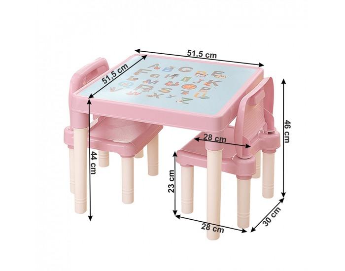 Detský set Balto 1+2 - ružová / korálová