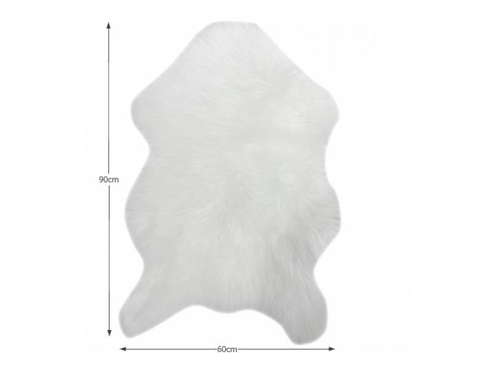 Umelá kožušina Ebony Typ 1 60x90 cm - biela