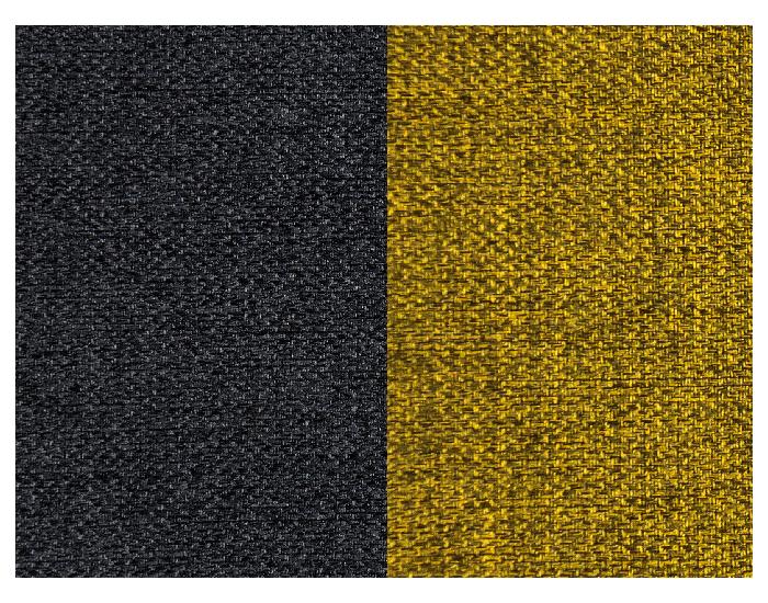 Rozkladacia pohovka Arco P - čierna / žltá