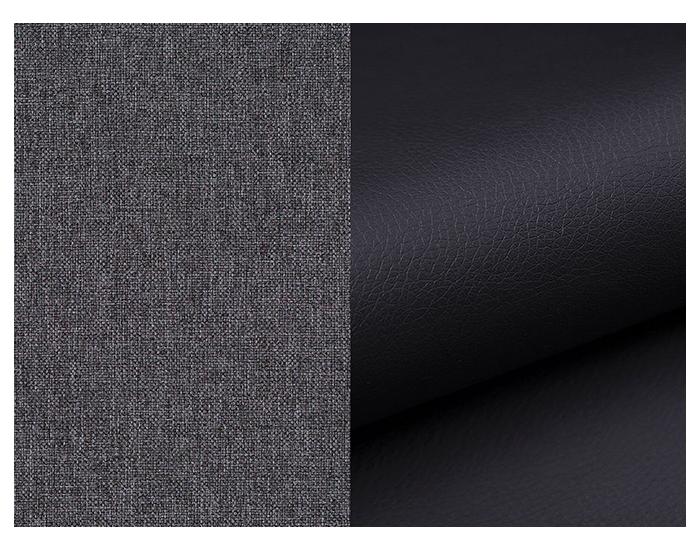 Rozkladacia pohovka Limia - sivá (Sawana 05) / čierna (Soft 11)