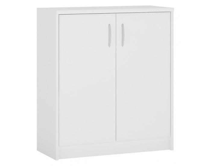 Dvojdverová komoda Sconto K1-2D - biela