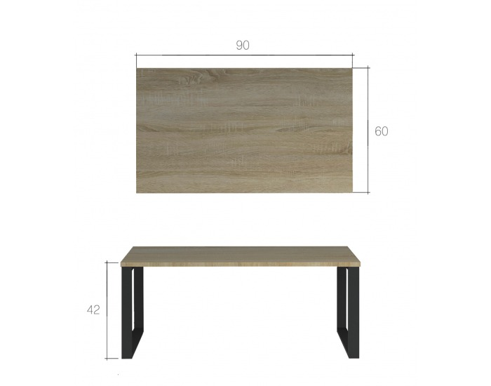 Konferenčný stolík Ficalo - biela matná