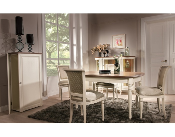 Rustikálna obývacia izba Florencja - vanilka / dub Florencja