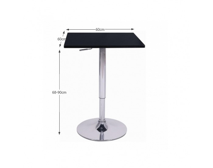 Barový stôl Florian - čierna / chróm