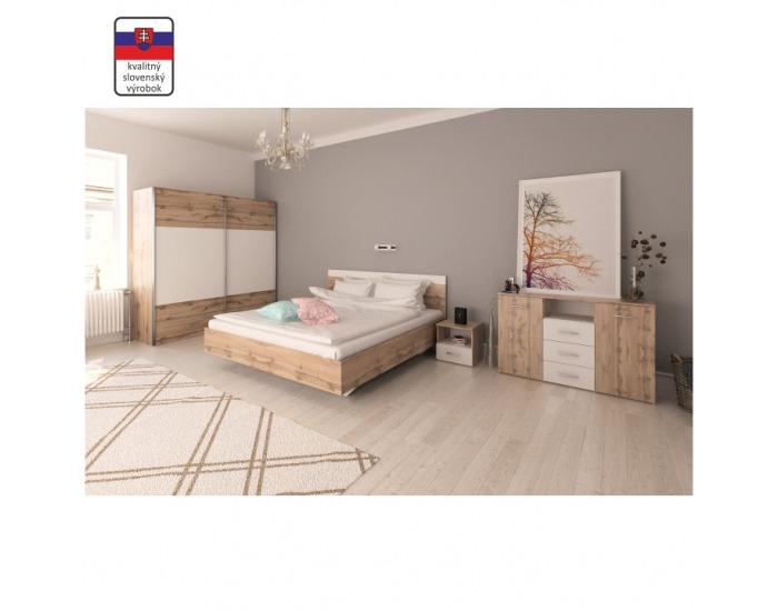 Spálňa Gabriela 180 - dub wotan / biela