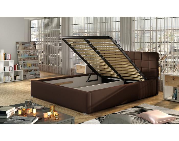 Čalúnená manželská posteľ s roštom Galimo UP 140 - béžová