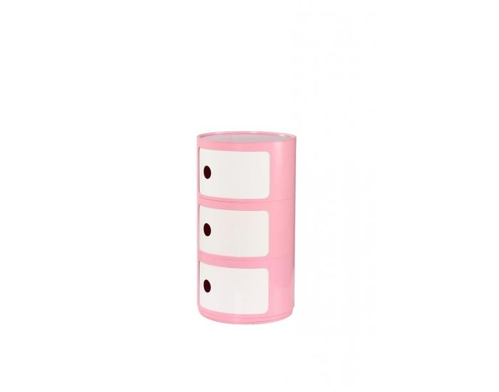 Komoda Alf - ružová / biela