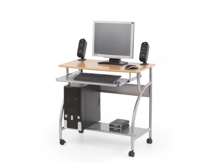 PC stolík na kolieskach B-6 - oceľ / buk