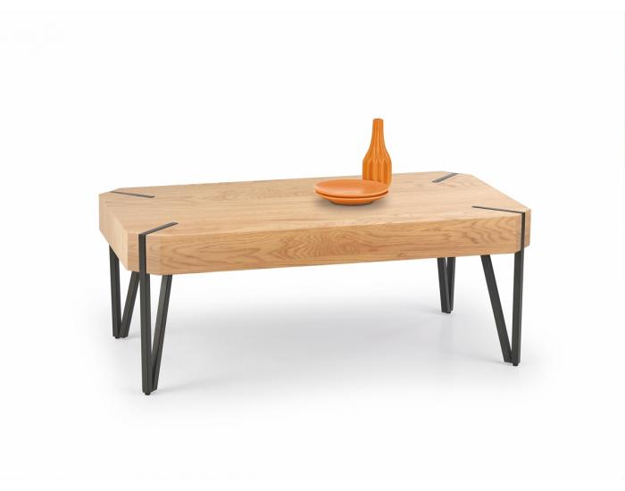 Konferenčný stolík Emily - dub zlatý / čierna
