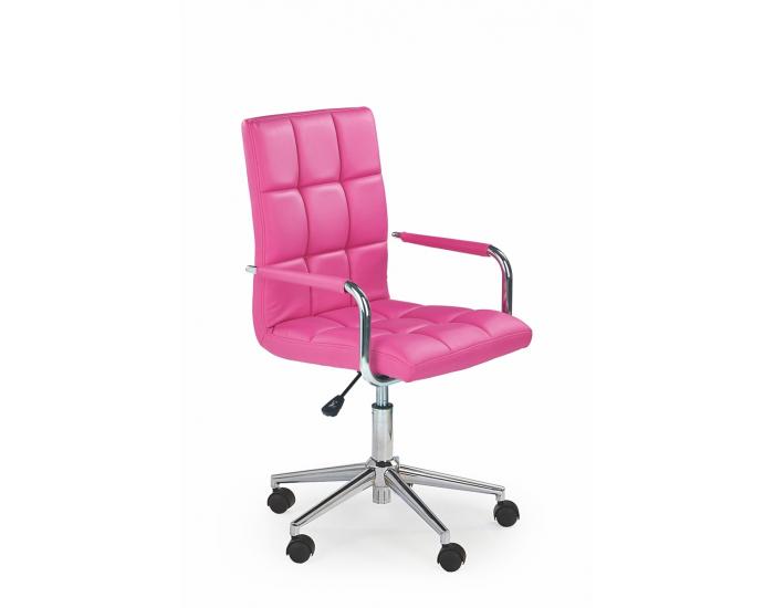 Kancelárske kreslo s podrúčkami Gonzo 2 - ružová / chróm