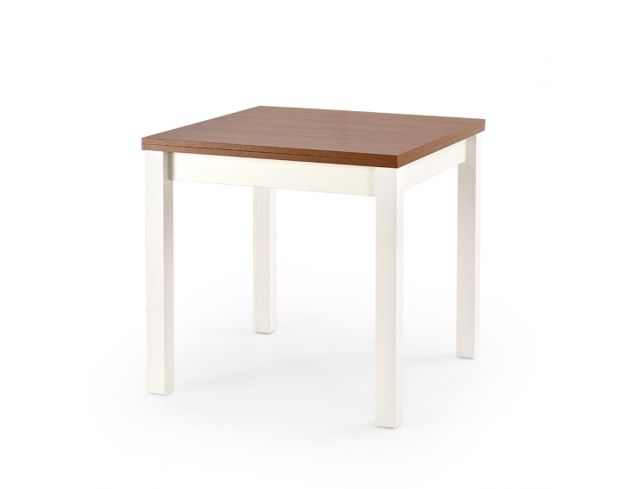 Rozkladací jedálenský stôl Gracjan - jelša / biela