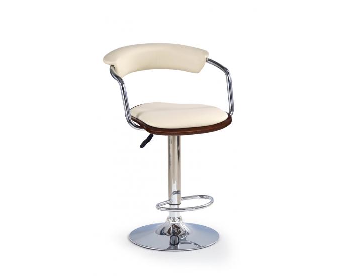 Barová stolička H-19 - čerešňa antická / krémová