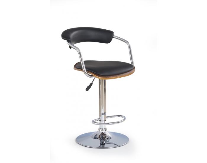 Barová stolička H-19 - orech / čierna