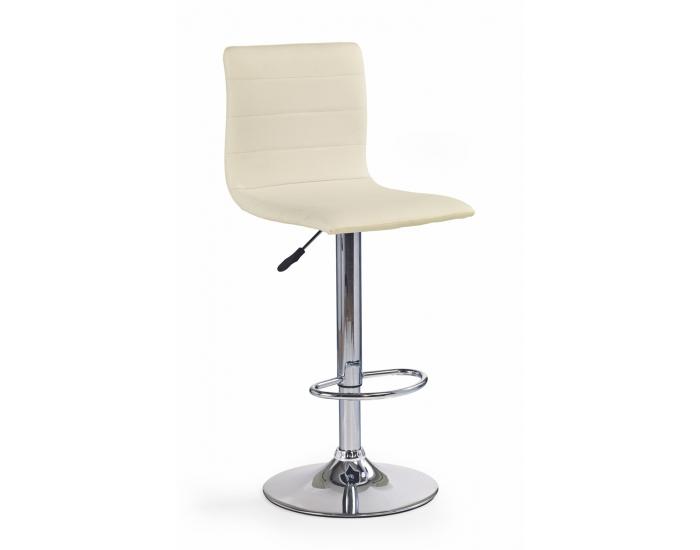 Barová stolička H-21 - krémová / chróm
