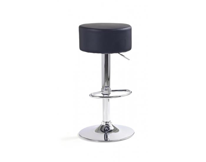 Barová stolička H-23 - čierna / chróm