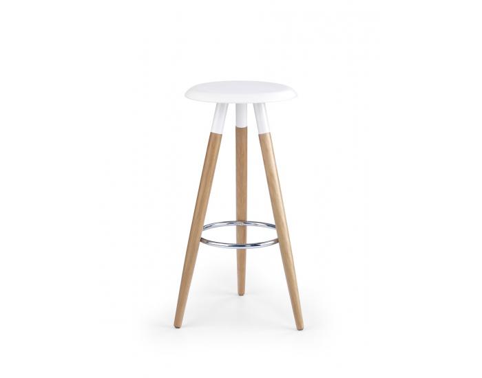 Barová stolička H-50 - biela / buk