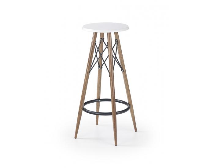 Barová stolička H-68 - biely lesk