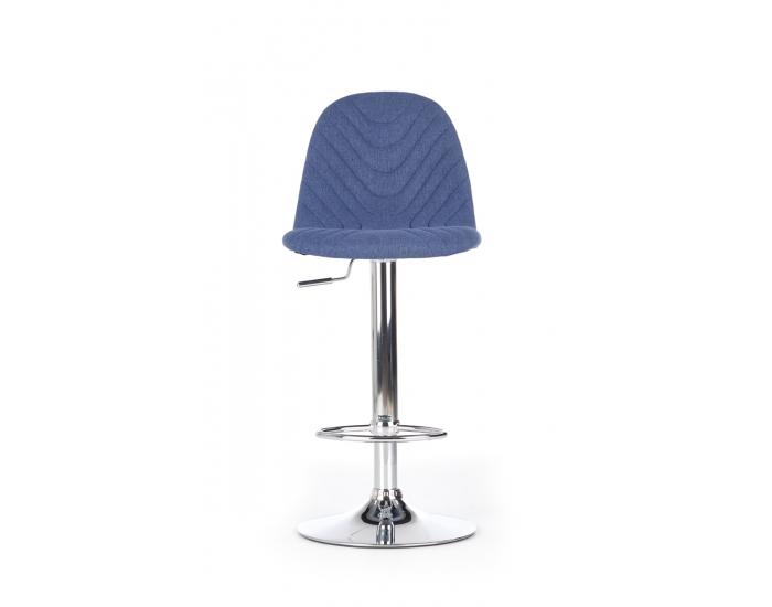 Barová stolička H-82 - tmavomodrá / chróm