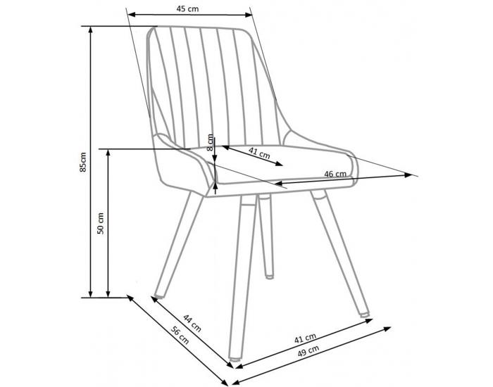 Jedálenská stolička K284 - svetlosivá