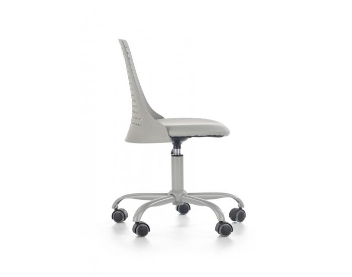 Detská stolička na kolieskach Pure - sivá