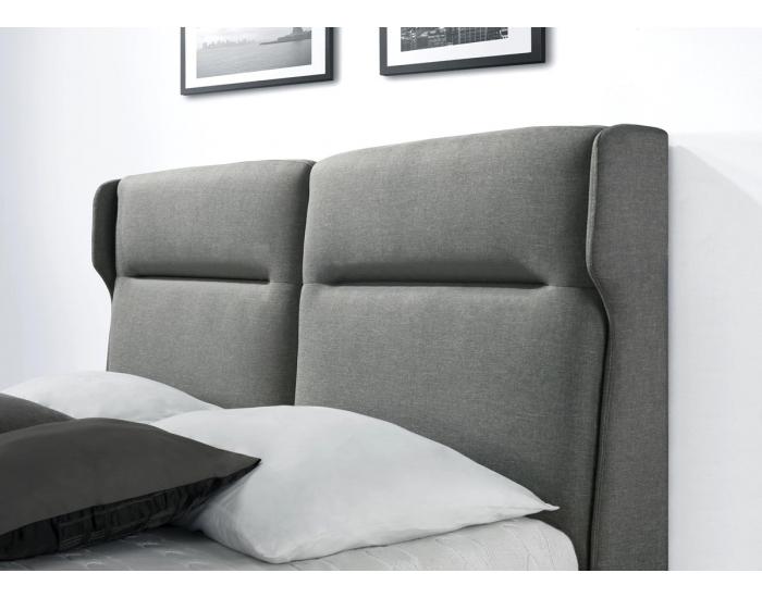 Čalúnená manželská posteľ s roštom Santino 160 - sivá