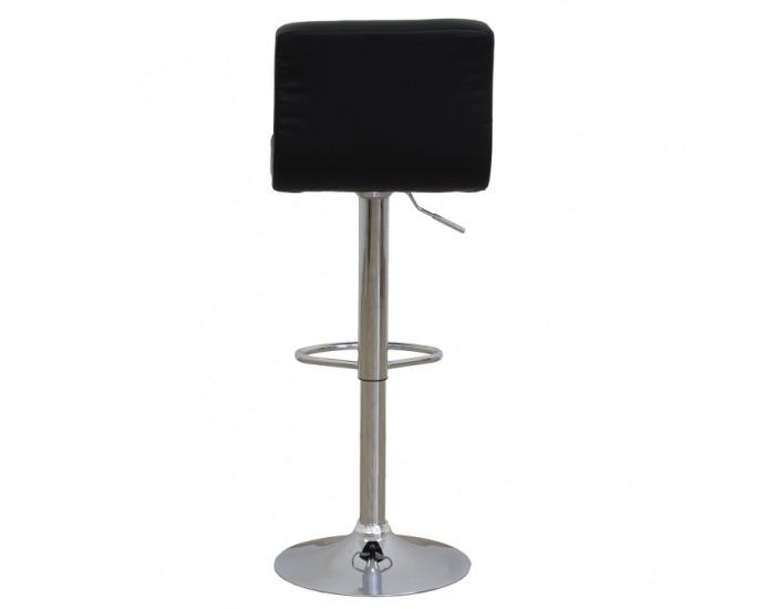 Barová stolička Hilda - hnedá / čierna / chróm