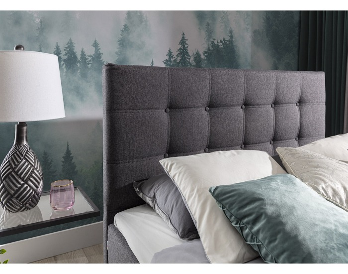 Čalúnená manželská posteľ Isola 140 - sivá