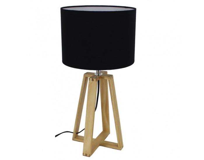 Stolná lampa Jade Typ 3 - čierna / prírodná
