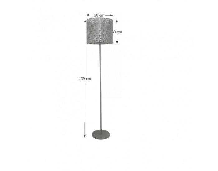 Stojacia lampa Jade Typ 9 - sivá