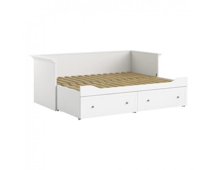 Jednolôžková posteľ s prístelkou Paris 80x200 cm - biela