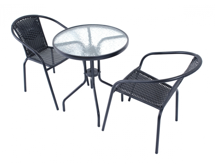 Záhradný stolík Jupiter 60 - čierna