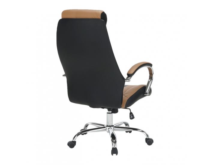 Kancelárske kreslo s podrúčkami Taner New - čierna / hnedá