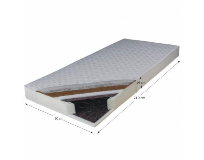 Pružinový matrac Kokos Medium 90x210 cm
