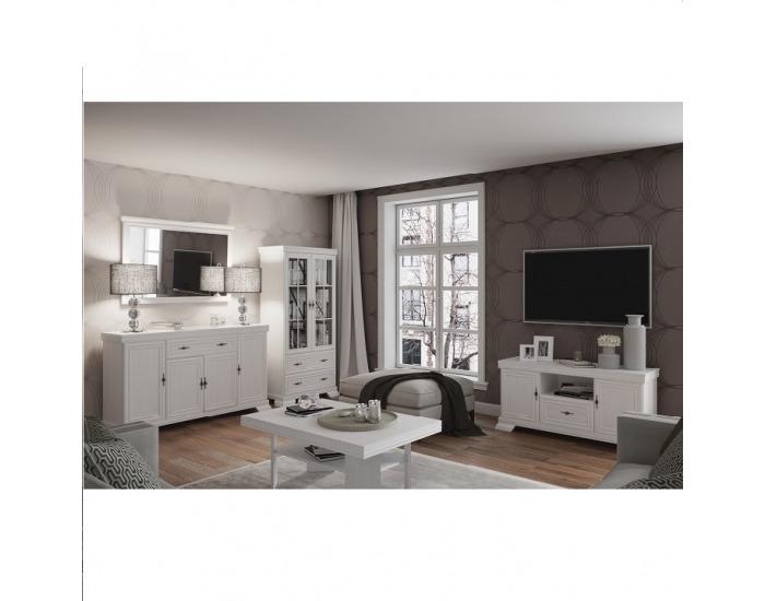Rustikálna manželská posteľ s roštom Kora KLS 160 - sosna Andersen