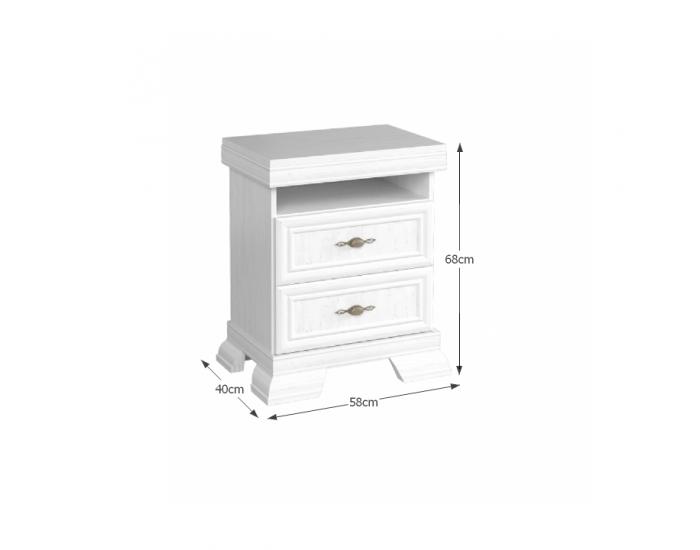 Rustikálny nočný stolík Kora KSN - sosna Andersen
