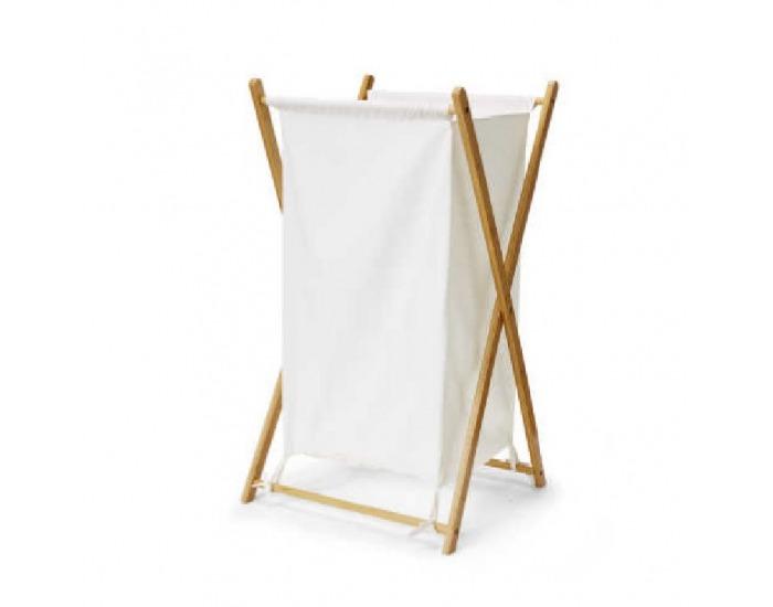 Kôš na prádlo Avelino - biela / prírodná