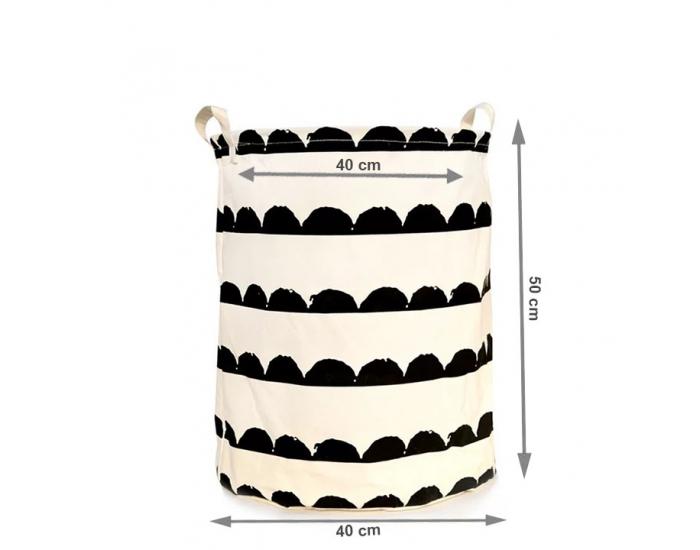 Kôš na prádlo Plejo Typ 2 - biela / čierny vzor