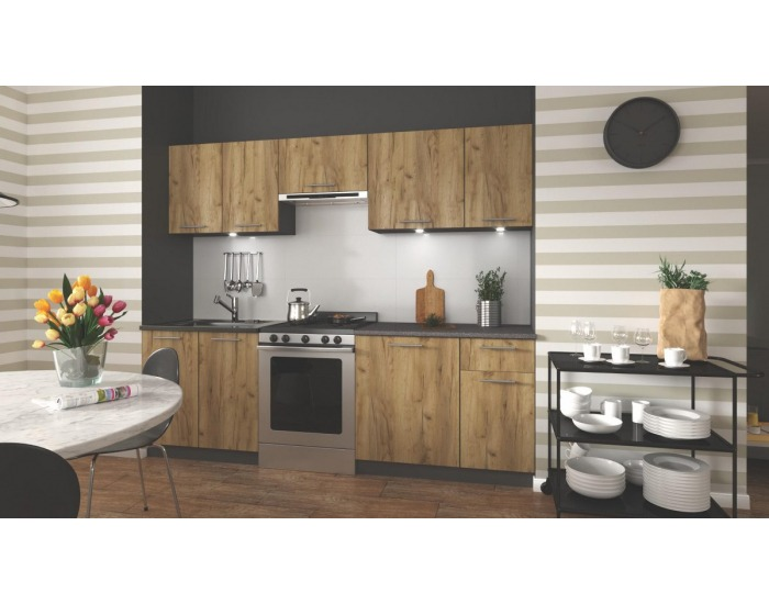 Kuchyňa Daria 240 - dub wotan / antracit