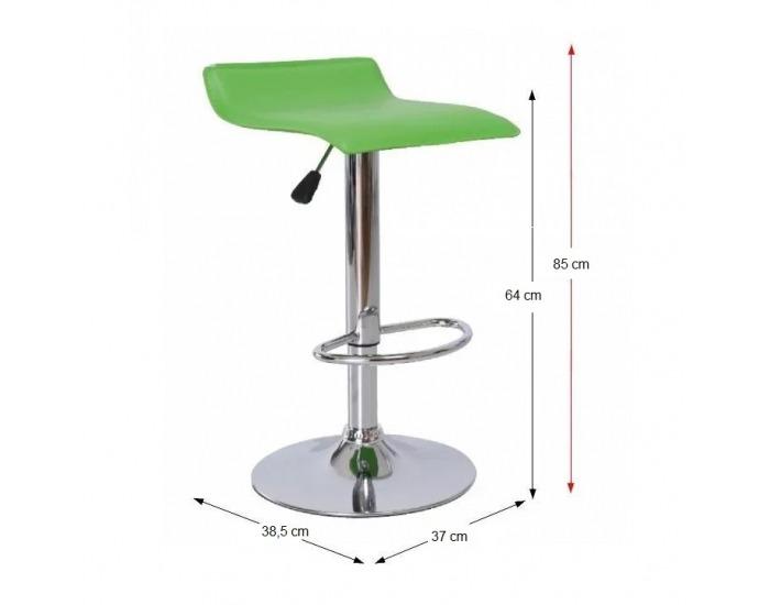 Barová stolička Laria New - zelená / chróm