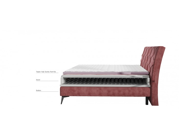 Čalúnená manželská posteľ s úložným priestorom Lazio 180 - žltá