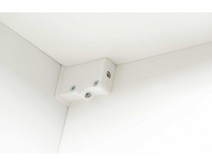 Obývacia stena s osvetlením Lippi - biela / čierny lesk