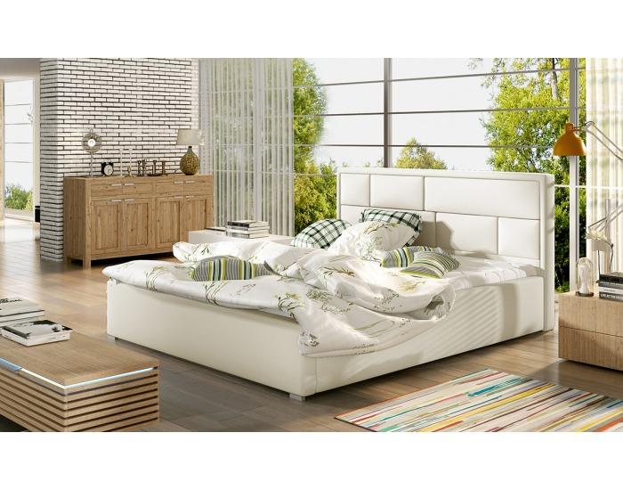 Čalúnená manželská posteľ s roštom Liza 160 - béžová