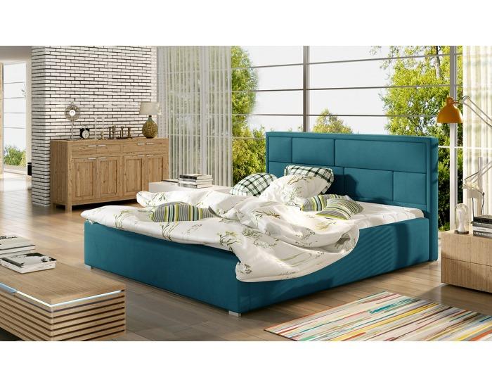 Čalúnená manželská posteľ s roštom Liza UP 160 - tyrkysová