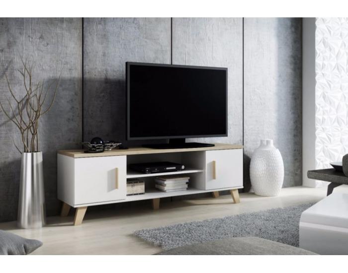 TV stolík Lotta 160 2D2K - biela / dub sonoma