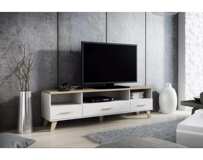TV stolík Lotta 180 3S3K - biela / dub sonoma