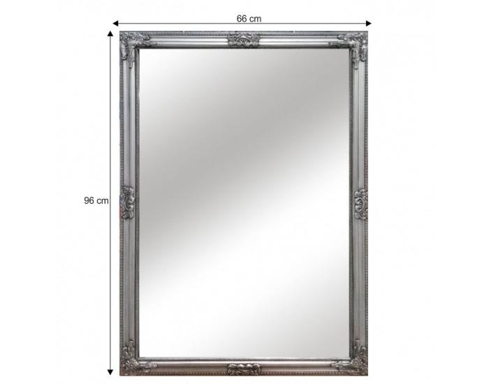 Zrkadlo na stenu Malkia Typ 11 - strieborná