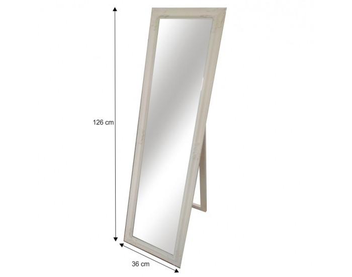 Stojace zrkadlo Malkia Typ 12 - smotanová