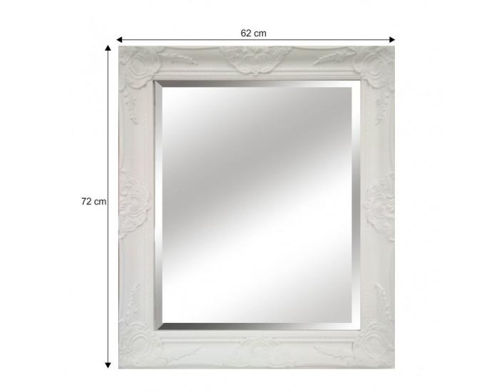 Zrkadlo na stenu Malkia Typ 13 - biela