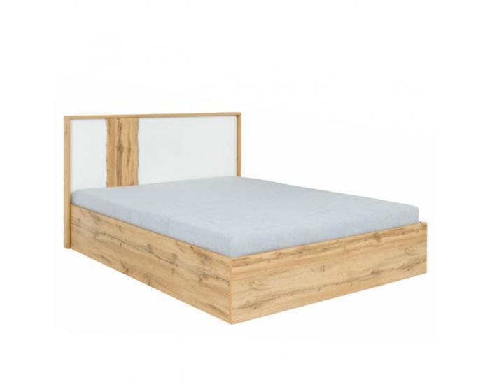 Manželská posteľ s osvetlením Vodena 180 - dub wotan / biela