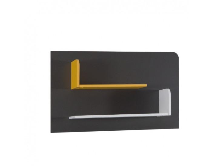 Detská izba Matel - biela / sivý grafit / enigma / žltá